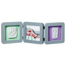 Baby Art My Baby Touch Two Print Frame, Grey