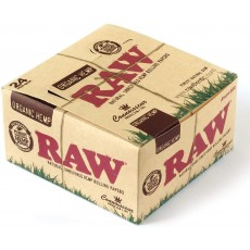 Raw Organic Hemp Connoisseur King Size Slim + Tips - 24 Booklets by Trendz