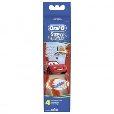 Oral-B Stages Cars Toothbrush Heads - 4 Pack