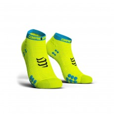 Compressport Pro Racing Sock V3.0 Run Low - Fluo Yellow, T1