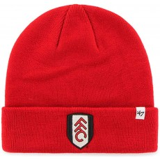Fulham Football Club Official Licensed Men's Knitted Bronx Beanie Hat in Red