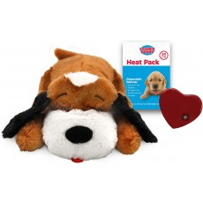 SmartPetLove Snuggle Puppy Behavioral Aid Toy Brown and White