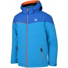 Dare 2b Kid's Ski & Snowboard Jacket in Blue with Foldaway Hood - 9 / 10