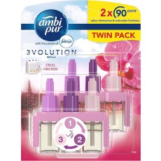Ambi Pur 3Volution Plug In Air Freshener Refill Thai Orchid - 20ml Pack of 2