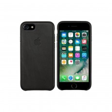 Apple Leather Back Cover Case for iPhone 7/8 - Black