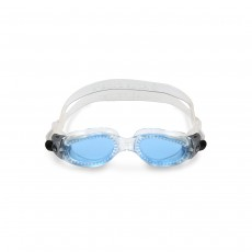 Aqua Sphere Kaiman Compact Swimming Goggles Small Fit - Transparent/ Lenses Blue