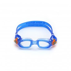 Aqua Sphere Moby Kids Swim Goggles - Blue/ Orange Lenses Clear
