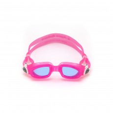 Aqua Sphere Moby Kids Swimming Goggles - Pink/ White/ Lens Blue