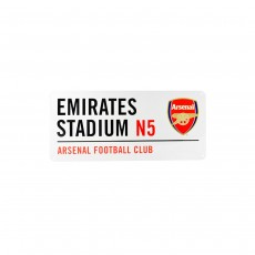 Arsenal Football Club 'Emirates Stadium' Official Metal Sign