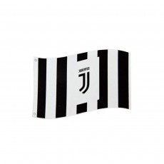 Juventus Football Club Official Black And White Deco Large Flag Crest Badge