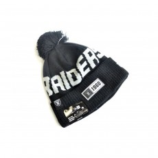 New Era Oakland Raiders Official NFL Knitted Bobble Hat
