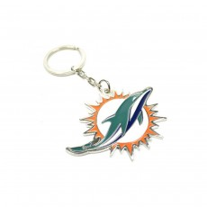Miami Dolphins Official Crest NFL Keyring