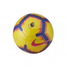 Nike Pitch Premier League Football Ball - Yellow/Purple, Size 5