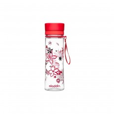 Aladdin Aveo Clear Tritan Water Bottle, Red Print - 600ml