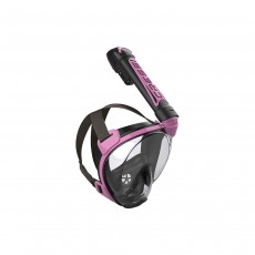 Cressi Duke Dry Full Face Mask - Black/Pink, S/M