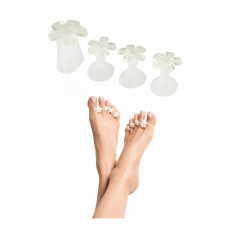 Dip Into Pretty Pedi Spacers  - Bouquet of White