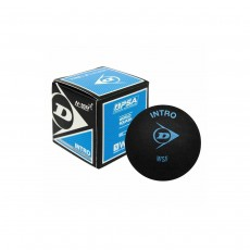 Dunlop 'Intro' Squash Ball, Single Blue Dot
