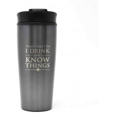 Pyramid Travel Mug in Grey & Silver Porcelain Game Of Thrones Themed