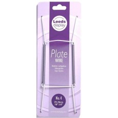 "Leeds Display Wire Plate Hanger in White / 10 - 14"" / 25 - 26cm"