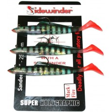 "Sidewinder Sandeels Mackerel Fire - Fishing Lures - 6"" - 25g"