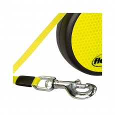 Flexi Neon Retractable Lead - Large Black & Neon Tape 5m