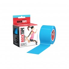 RockTape Kinesiology Roll Support Tape - Electric Blue,  5cm x 5m / 2 Inch x 16.4ft