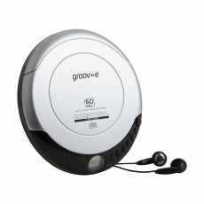Groov-e Retro Personal CD Player - Silver