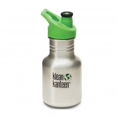 Klean Kanteen 12oz (354ml) Kids Canteen, with Sport Cap - Brushed Stainless