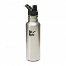 Klean Kanteen 18oz (532ml) 'Classic' Bottle with Sports Cap - Brushed Stainless