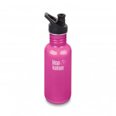 Klean Kanteen 18oz (532ml) 'Classic' Bottle with Sports Cap - Wild Orchid