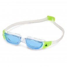 NEW! Aqua Sphere 'Kameleon' Junior Swimming/Triathlon Goggles - Clear/Lime with Blue Lens