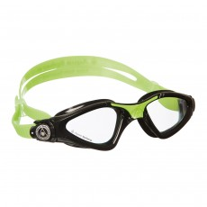 Aqua Sphere 'Kayenne' Junior Swimming/Triathlon Goggles - Black/Lime with Clear Lens