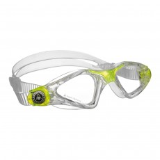 Aqua Sphere 'Kayenne' Junior Swimming/Triathlon Goggles - Clear/Lime with Clear Lens