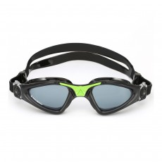 Aqua Sphere 'Kayenne' Men's Swimming/Triathlon Goggles - Black/Lime with Smoke Lens