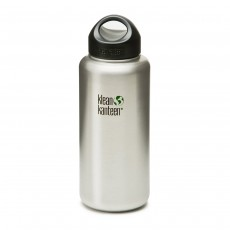 Klean Kanteen 27oz (800ml) 'Classic' Wide-Mouth Bottle with Loop Cap - Brushed Stainless