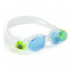 Aqua Sphere 'Moby' Junior Swimming Goggles - Clear/Lime with Blue Lens