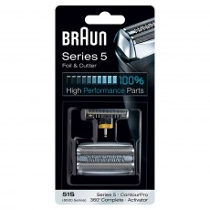 Braun Electric Shaver Replacement Foil and Cassette Cartridge 51S Series 5 Silver
