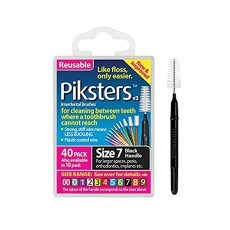 Piksters Interdental Brushes Size 7 Black 40 Brushes