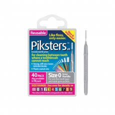 Piksters Interdental Brushes Size 0 Silver 40 Brushes
