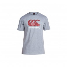 Canterbury Mens Large CCC Logo Short Sleeves T-Shirt - Extra Large, White/Grey/Red