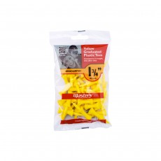 Masters Plastic Golf Graduated Tees (Bag of 30) - Yellow, 1 3/4""
