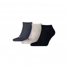 Puma Unisex Sneaker Invisible Socks (3 Pairs) - Navy Mix, 2.5-5