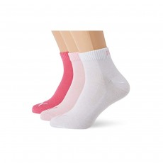 Puma Unisex Quarter Training Socks (3 Pairs) - Pink, 6-8