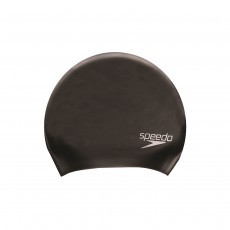 Speedo Adult Long Hair Silicone Cap Black