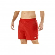 Speedo Mens Solid Leisure Shorts - Small, China Red