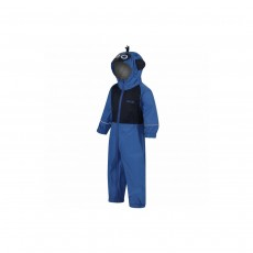 Regatta Charco Childrens All-in-one Waterproof Rain Suit - Blue, 6-12 Months