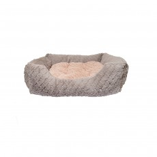 """Rosewood Grey & Pink Square Bed - 18"""""""