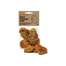 Rosewood Naturals Henny's Strawberry Hearts for Chickens - 120g