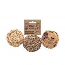 Rosewood Boredom Breaker Small Animal Trio of Fun Balls Medium