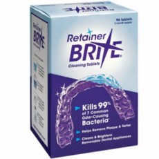 Retainer Brite Mouth Guard and Denture Cleaner 96 Tablets 3 Months Supply